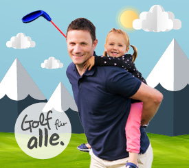 Familie spielt Pitch and Putt